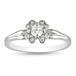 Miadora 14k White Gold 1/4ct TDW Diamond Fashion Ring (G-H, SI1)