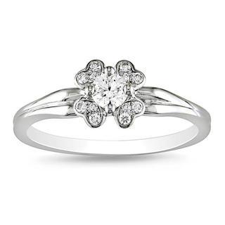 Miadora 14k White Gold 1/4ct TDW Diamond Fashion Ring (G-H, SI1)