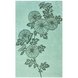 Hand-tufted Fauna Mint Wool Rug (8' x 11')
