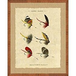 'Fishing Flies Print II' Framed Art