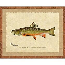 'Trout Print III' Framed Art