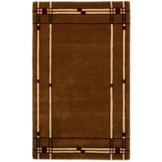 Hand-tufted Liberty Brown Wool Rug (5 'x 8')