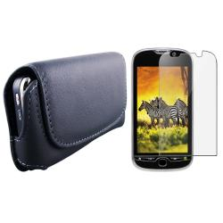 Leather Case w/ Screen Protector for HTC T-mobile myTouch 4G