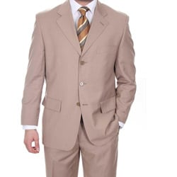 Ferrecci Men's Classic Tan 3-button Suit