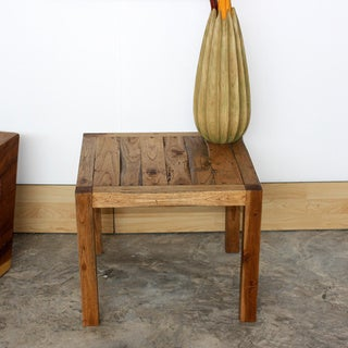 Teak Wood 18-inch Walnut Oil End Table (Thailand)
