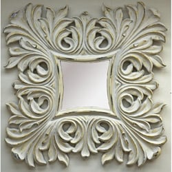 Traditional Antique White Mirror