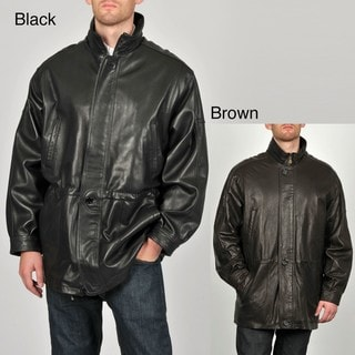 Tibor Men's Leather Anorak Jacket