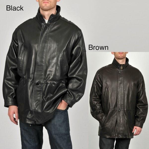 Tibor Men's Leather Anorak Jacket
