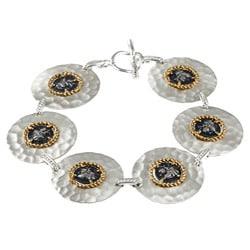 Sterling Silver Roman Coin Replica Bracelet