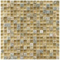 Somertile Reflections Mini-Suffolk Stone and Glass Mosaic Tiles (Pack of 10)