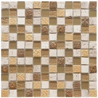 Somertile Basilica 1-inch Milano Stone and Glass Mosaic Tiles (Pack of 10)