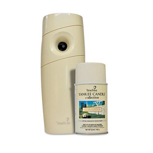 TimeMist Yankee Candle Beige Clean Cotton Starter Kit