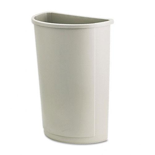Rubbermaid Beige Half-round 21-gallon Untouchable Waste Container