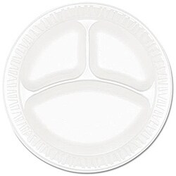 Dart Concorde Compartmented 9-inch Foam Plates (Case of 500)