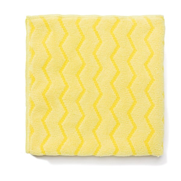 Rubbermaid Reusable Microfiber Cleaning Yellow Cloths (Pack of 12)
