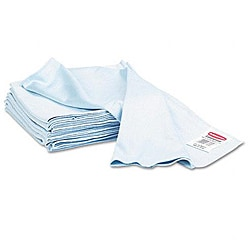 Rubbermaid Reusable Microfiber Cleaning Blue Cloths (Pack of 12)