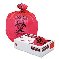 Jaguar Plastics Red Bio-hazard 15-gallon Liners (Case of 100)