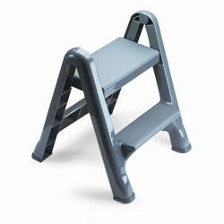 Rubbermaid 2-step Folding Plastic Step Stool