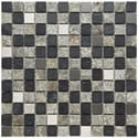 Somertile Granstone Alloy 1-inch Verde Stone and Metal Mosaic Tiles (Pack of 10)