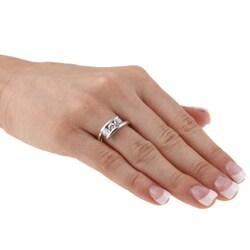Kate Bissett White Cubic Zirconia Three Stone Ring