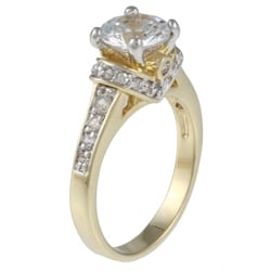 Kate Bissett Two-tone White Cubic Zirconia Engagement Ring