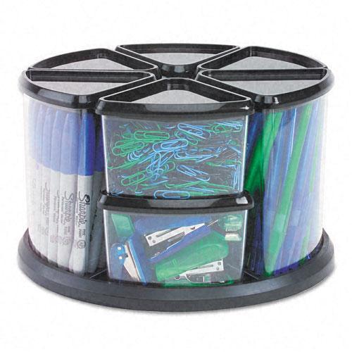 Deflect-O Nine Canister Plastic Carousel Organizer