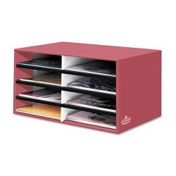 Banker's Box Red Eight-section Letter-Size Literature Sorter