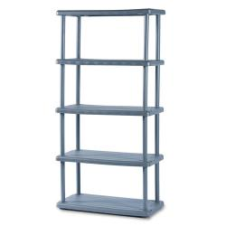 Iceberg Charcoal Rough-n-Ready 5-shelf Open Storage System