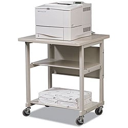 Balt Grey Heavy-duty Mobile 3-shelf Laser Printer Stand