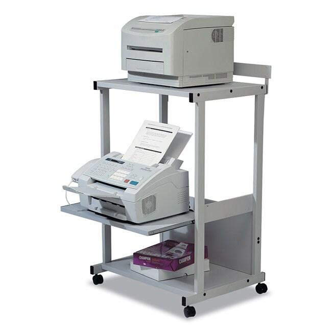 Balt Max Stax Dual Purpose 3-shelf Gray Printer Stand