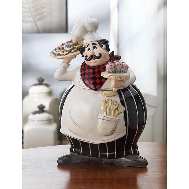 American Atelier Buon Appetito Earthenware Cookie Jar