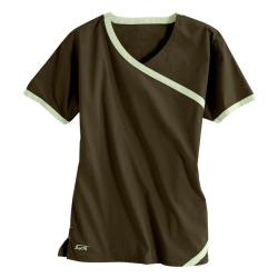 IguanaMed Women's Cross Over Sienna Brown Top