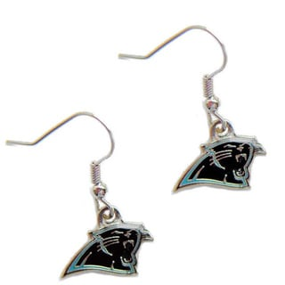 Carolina Panthers Dangle Logo Earrings