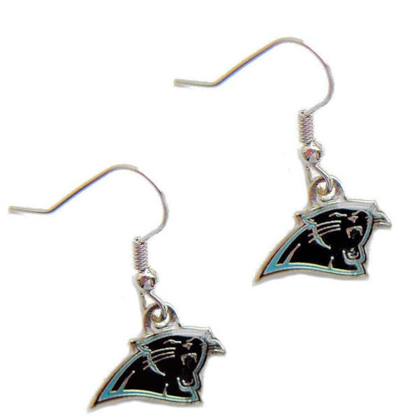 Carolina Panthers Dangle Logo Earrings