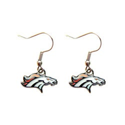 Denver Broncos Dangle Logo Earrings