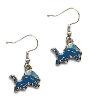 Detroit Lions Dangle Logo Earrings