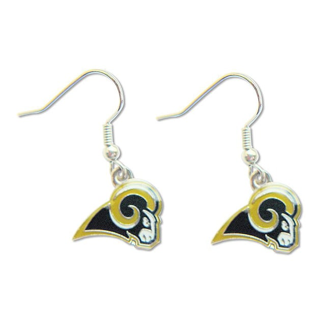 St Louis Rams Dangle Logo Earrings