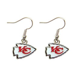 Kansas City Chiefs Dangle Logo Earrings