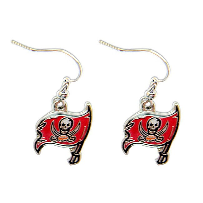 Tampa Bay Buccaneers Dangle Logo Earrings