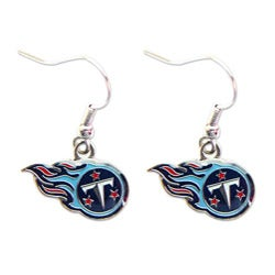 Tennessee Titans Dangle Logo Earrings