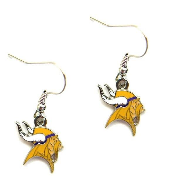 Minnesota Vikings Dangle Logo Earrings
