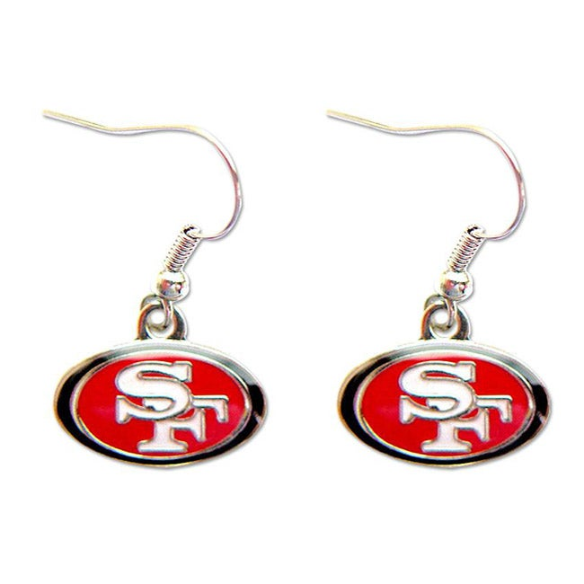 San Francisco 49ers Dangle Logo Earrings