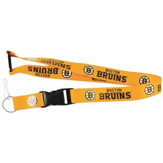 Boston Bruins Gold Clip Lanyard