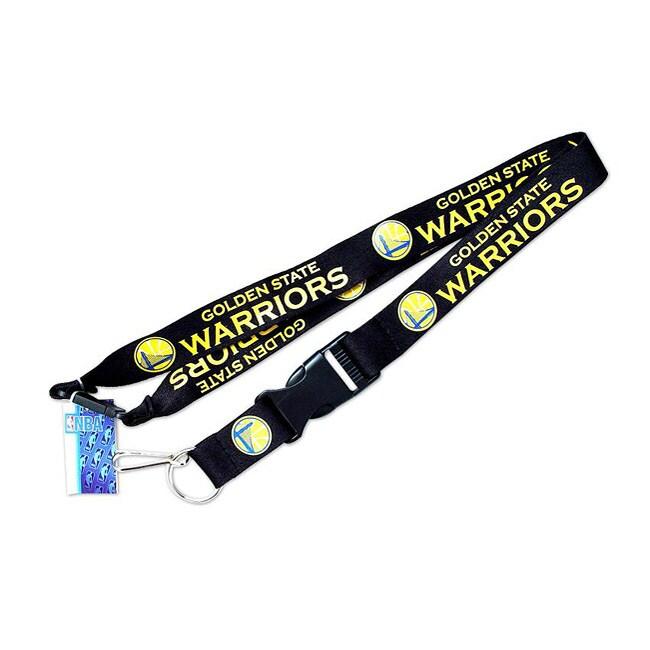 Golden State Warriors Black Clip Lanyard