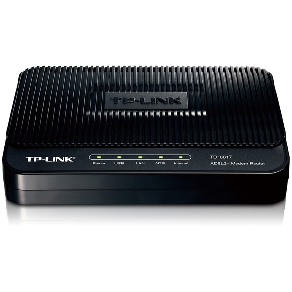 TP-LINK TD-8817 ADSL2+ Modem, 1 RJ45, 1 USB Port, Bridge Mode, NAT Ro