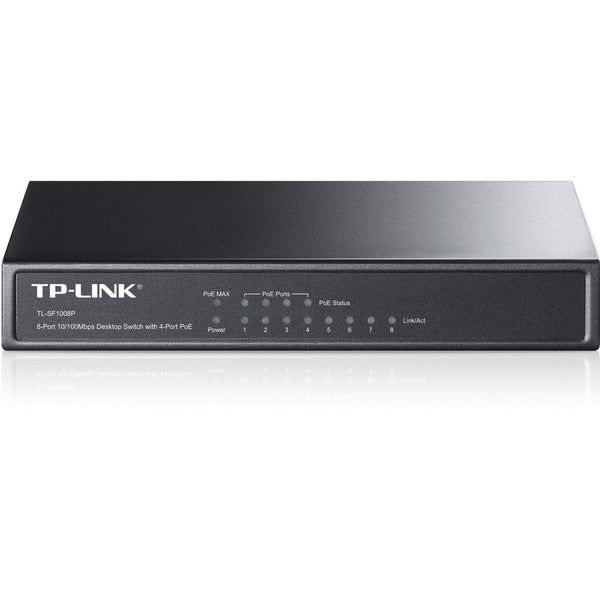 TP-LINK TL-SF1008P 10/100Mbps 8-Port Fast Desktop POE Switch with 4 P