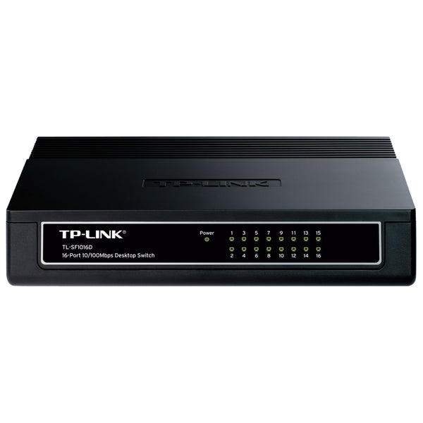 TP-LINK TL-SF1016D 16-Port 10/100Mbps Desktop Switch, 3.2Gbps Capacit