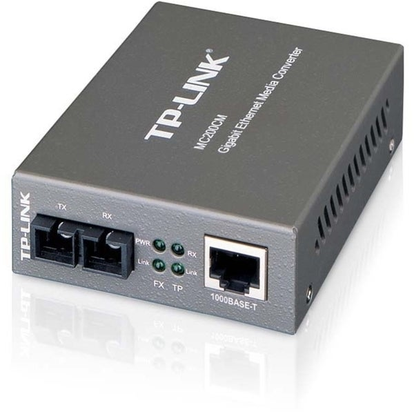 TP-LINK MC200CM Gigabit Media Converter, 1000Mbps RJ45 to 1000M multi
