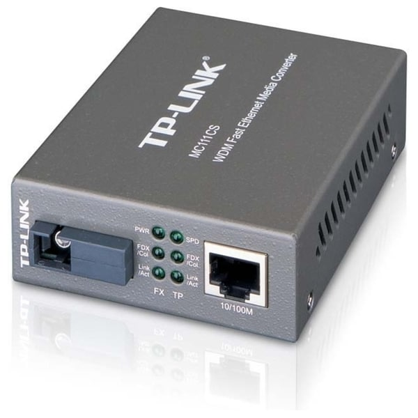 TP-LINK MC111CS WDM Media Converter, 10/100Mbps RJ45 to 100M single-m