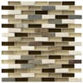 Somertile Reflections Subway Nassau Stone and Glass Mosaic Tiles (Pack of 10)